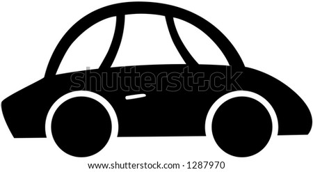 Vector Illustration of a Car - stock vector