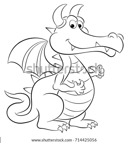 vector illustration of a cartoon dragon