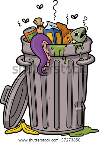Image result for trash can cartoon