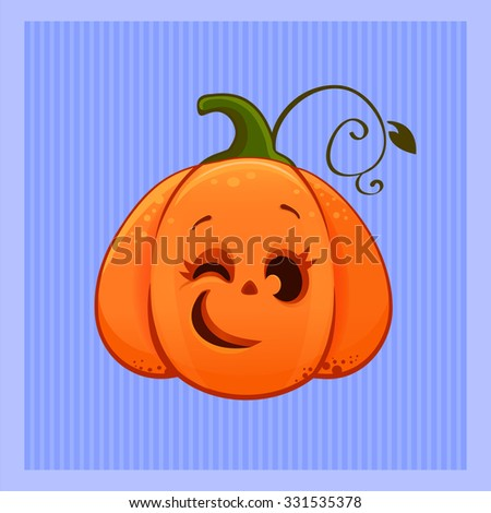 Vector Illustration Cartoon Winking Cute Halloween Stock Vector ...