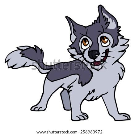 Siberian Husky Quebec Wolf Puppies Stock Ima...