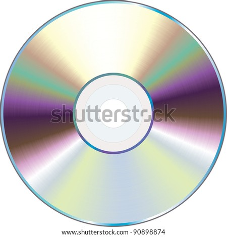 Vector illustration of a CD. - stock vector