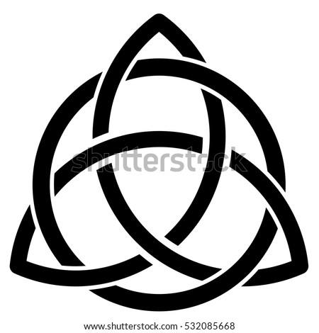 Vector Illustration Celtic Symbol On White Stock Vector 532085668