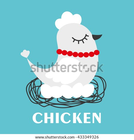 Vector illustration of a chicken