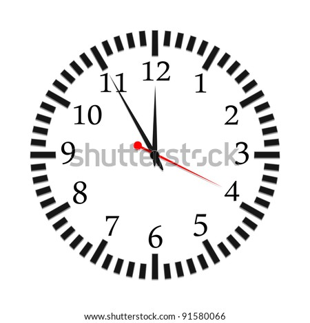 vector illustration of a clock - stock vector