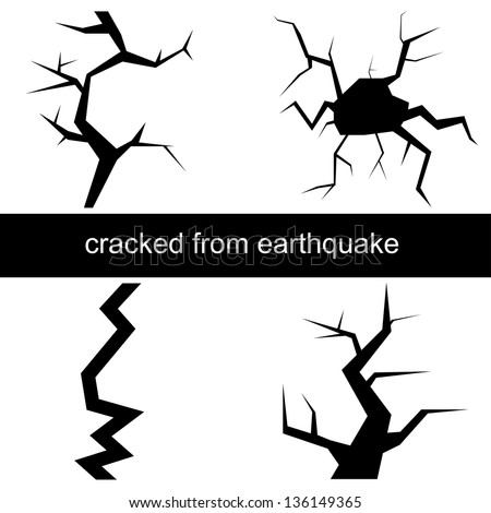 how to draw an earthquake crack