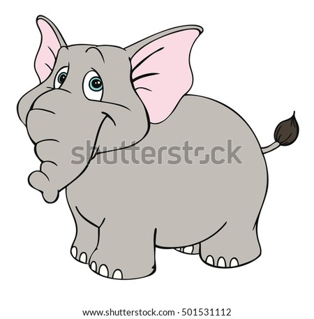 Vector illustration of a cute elephant