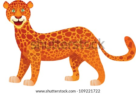 vector illustration of a cute eopard - stock vector