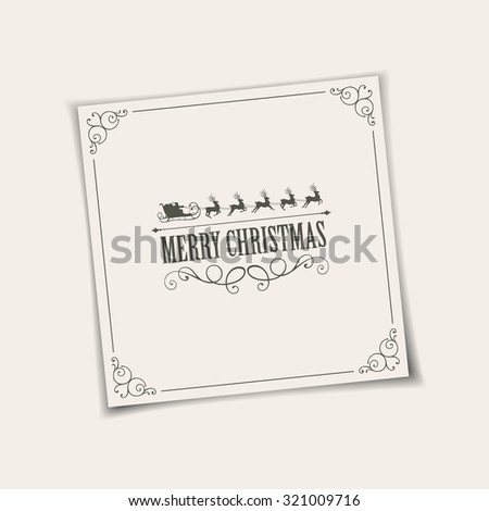 Vector Illustration of a Decorative Christmas Card - stock vector