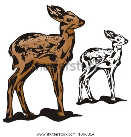 Vector illustration of a deer. - stock vector