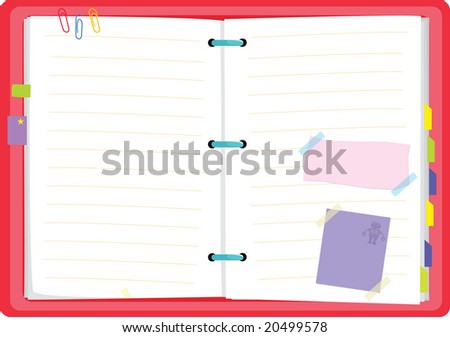 vector illustration of a diary planner - stock vector
