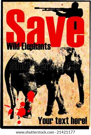 Vector Illustration of a Elephant - stock vector