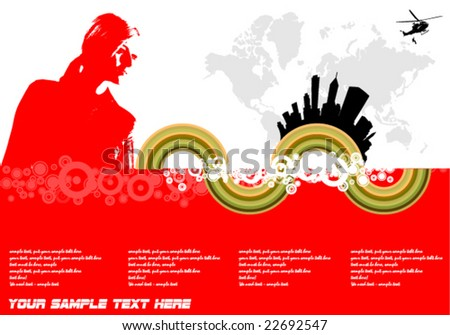 vector illustration of a female - stock vector