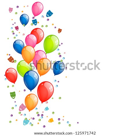 Vector Illustration of a Festive Balloon Background - stock vector