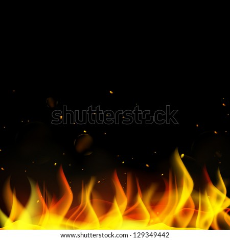 Vector Illustration of a Fire Background - stock vector