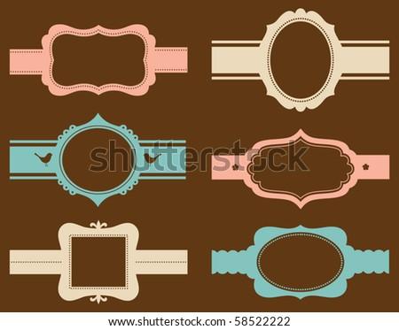 Vector illustration decorative corner frame borders stock - Separation decorative entre 2 pieces ...
