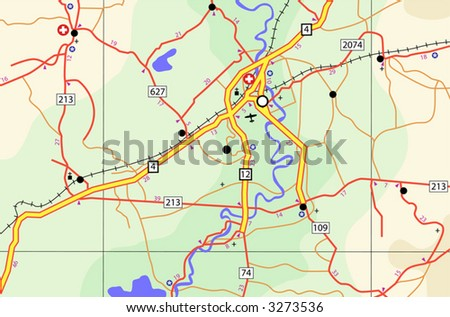 Colorado State Road Map Interstates Us Stock Vector - Colorado road map