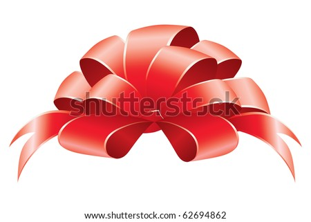 Vector illustration of a gift bow - stock vector