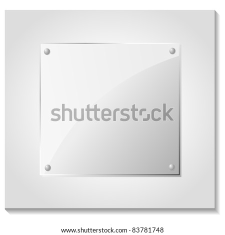 Vector illustration of a glass plate - stock vector