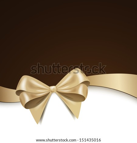 Vector Illustration of a Greeting Card with Bow