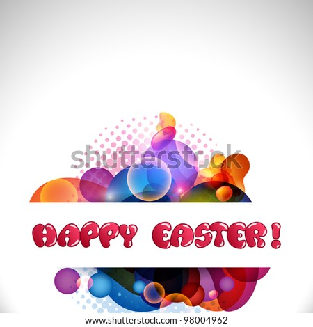 Vector illustration of a greeting, gift card or banner with  Happy Easter Greetings .EPS 10 abstract design. - stock vector