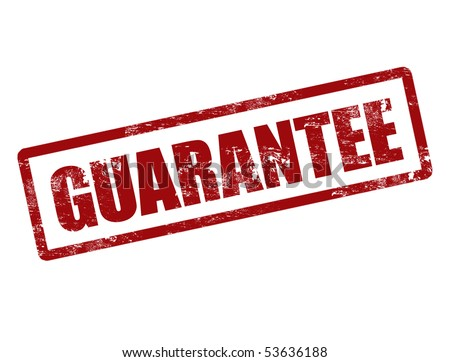 Vector illustration of a grunge rubber ink stamp guarantee - stock vector