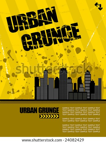 vector illustration of a grunge urban setting. buildings have lots of detail. - stock vector