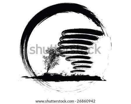 vector illustration of a grunge weather icon - stock vector