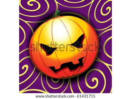 Vector illustration of a halloween pumpkin - stock vector