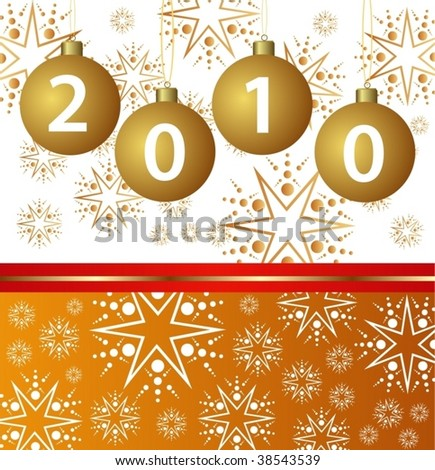 vector illustration of a happy new year card - stock vector