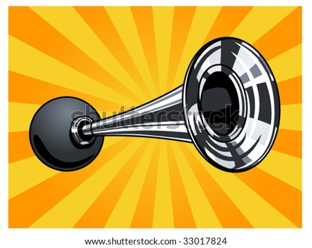 vector illustration of a horn - stock vector