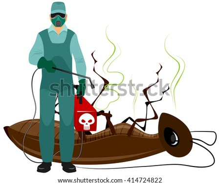 Vector illustration of a insect extermination services - stock vector