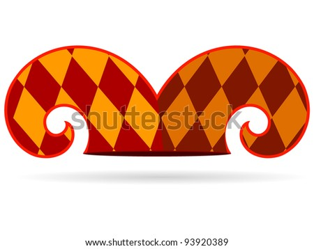 Vector illustration of a jester hat - stock vector