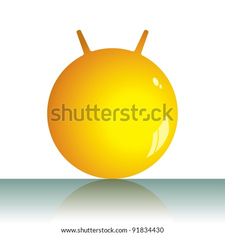 Vector illustration of a jumping ball. Can be easily colored and used in your design. - stock vector