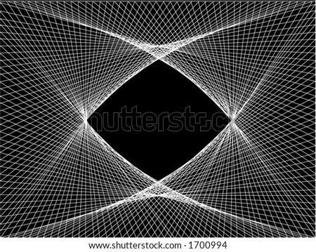 Vector illustration of a linear pattern. - stock vector