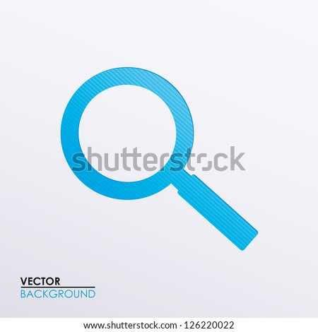 Vector illustration of a magnifying glass icon - stock vector