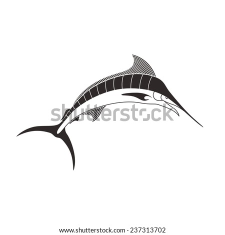 Vector Illustration of a Marlin Fish - stock vector