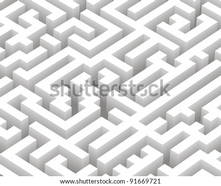 Vector illustration of a maze