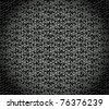 vector illustration of a metal texture with seamless floral pattern - stock photo