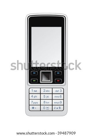 Vector illustration of a mobile phone.