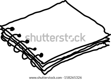 Vector illustration of a notebook