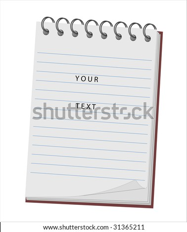Vector illustration of a notebook for records with an opportunity of editing