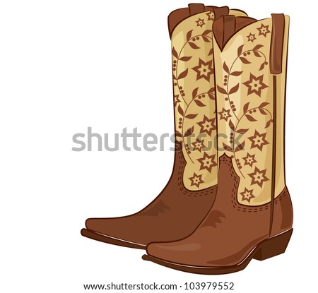 Vector illustration of a pair of cowboy boots - stock vector