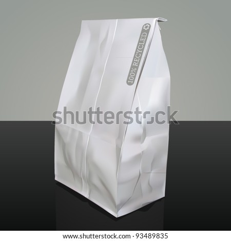 Vector illustration of a paper bag - stock vector