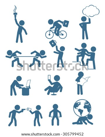 Vector illustration of a people in business set - stock vector