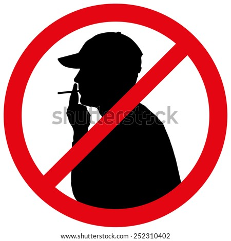 Vector illustration of a prohibition of smoke.