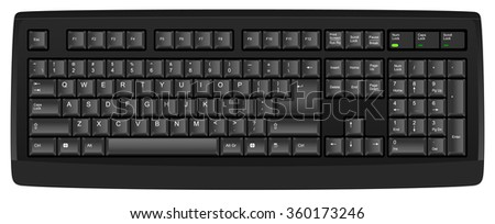 Vector illustration of a qwerty US English (en-us) layout computer keyboard. All objects well sorted and grouped in layers - stock vector