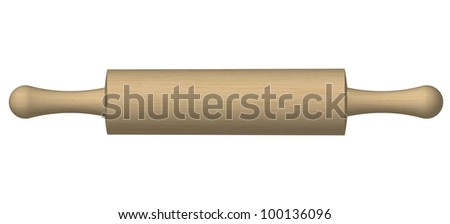 Vector Illustration of a rolling pin - stock vector