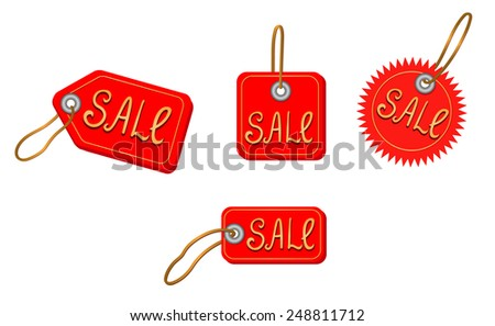 Vector illustration of a sale icons on white - stock vector