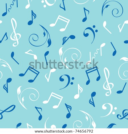vector illustration of a seamless abstract musical background. - stock vector